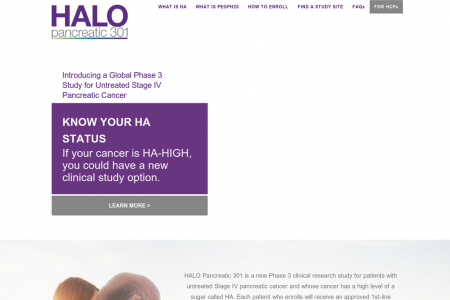 HALO Pancreatic 301 Microsite Infographic