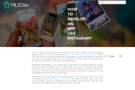 HOW TO DEVELOP AN APP LIKE INSTAGRAM? Infographic