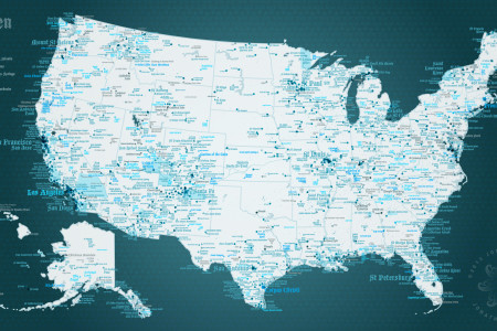 Heaven USA Place name map Infographic
