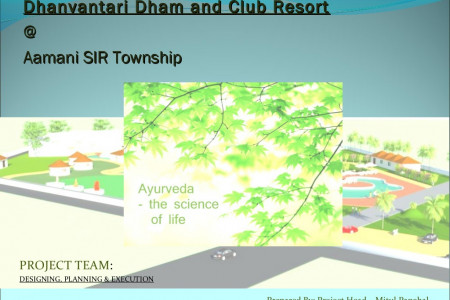 "Himanshu sampat Dream ""Dhanvantri Dham & Health Resort"" for Doctors Infographic"