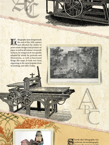History of Print Infographic