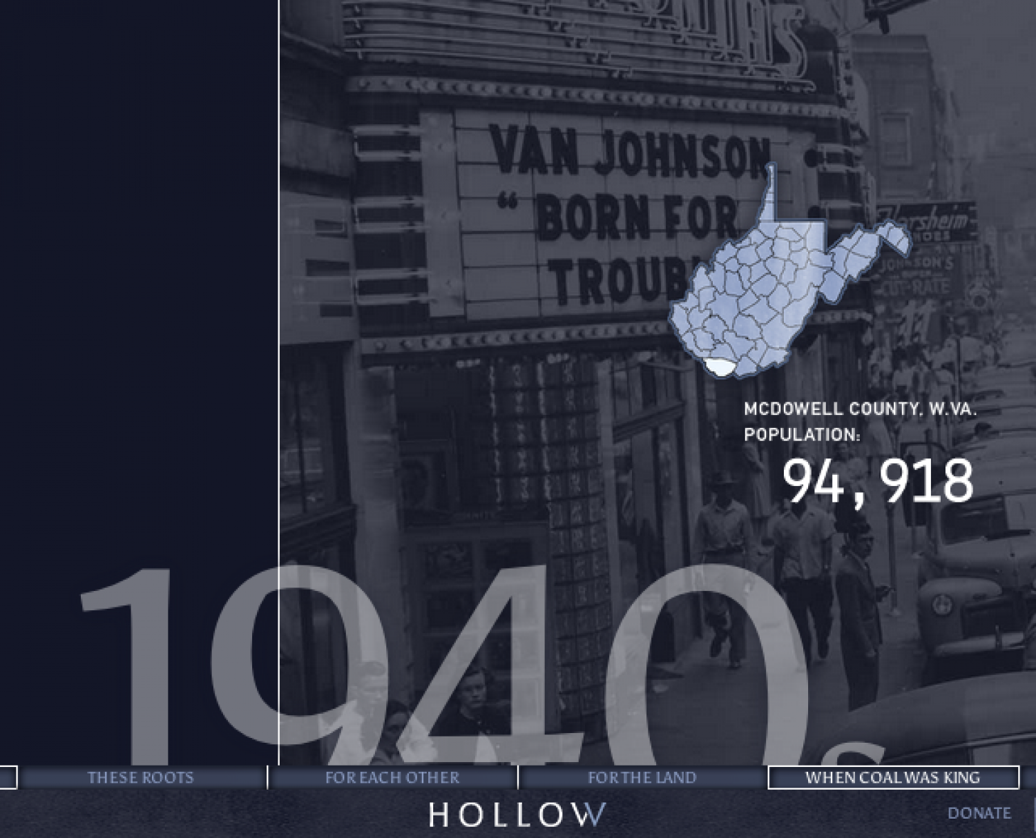 Hollow - An interactive documentary Infographic