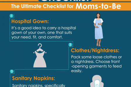 Hospital Bag Checklist: The Essentials Things to Pack Infographic