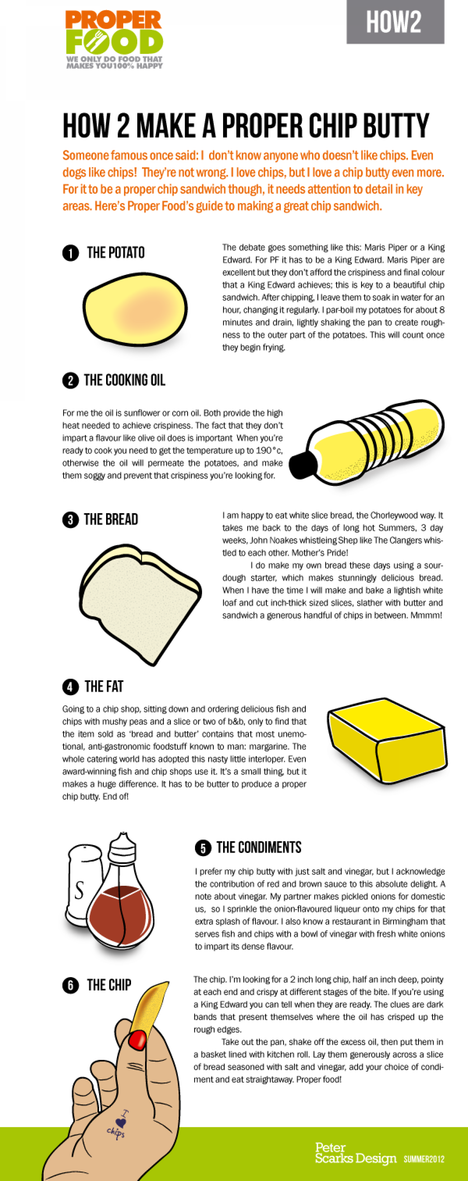How 2 Make a Proper Chip Butty Infographic