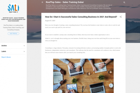 How Do I Start A Successful Sales Consulting Business In 2021 And Beyond?  Infographic