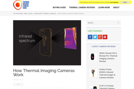 How Thermal Imaging Cameras Work Infographic