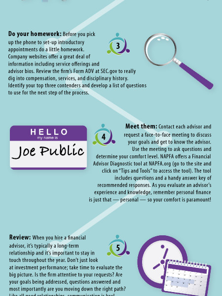 How To Find Your Financial Advisor Infographic
