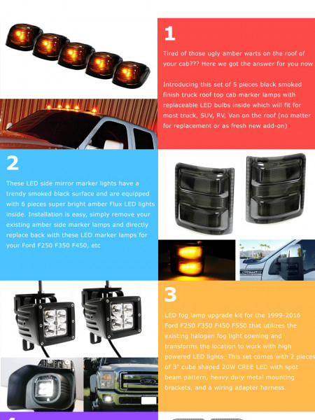 How To Make Your Ford F-250 Awesome! Infographic