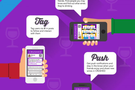 How To Use the CRUSHED Wine App Infographic