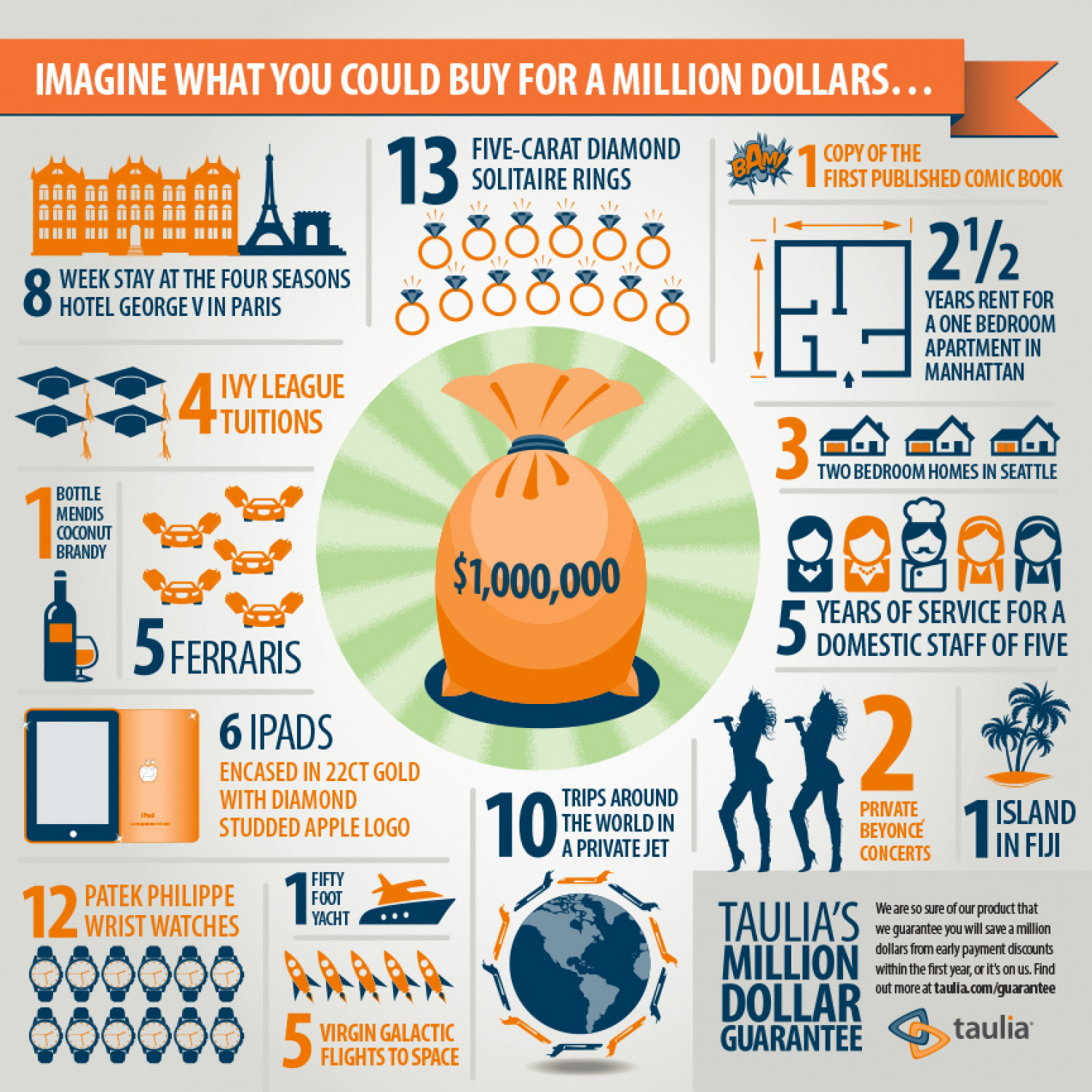 How Would You Spend One Million Dollars? Infographic