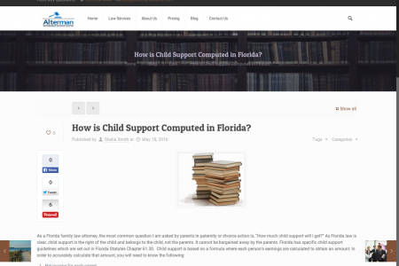 How is Child Support Computed in Florida? Infographic