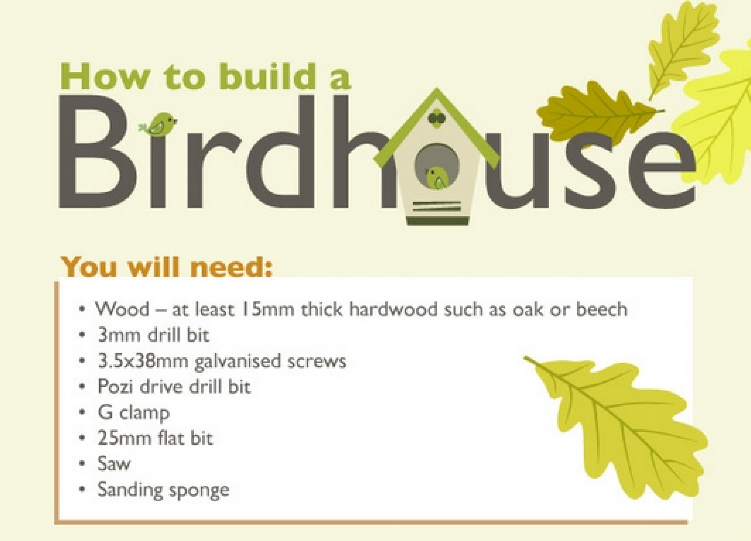 How to Build a Birdhouse Infographic