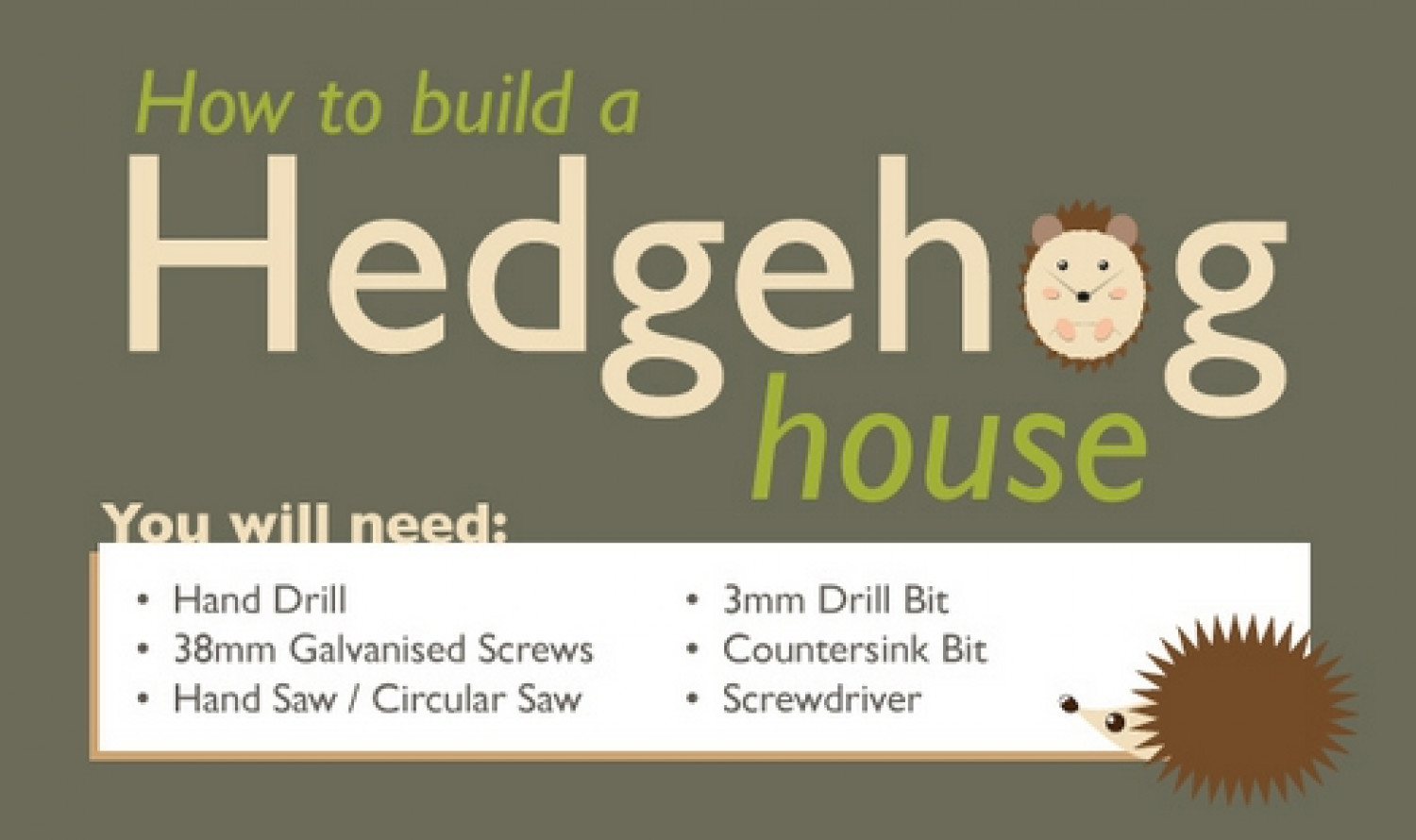 How to Build a Hedgehog House Infographic