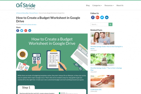 How to Create a Budget Worksheet in Google Drive Infographic