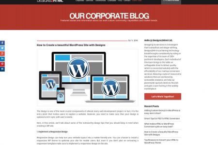 How to Create a beautiful WordPress Site with Designs Infographic