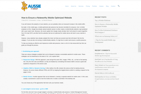 How to Ensure a Noteworthy Mobile Optimized Website Infographic
