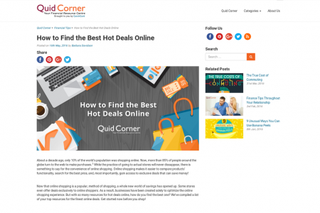How to Find the Best Hot Deals Online Infographic