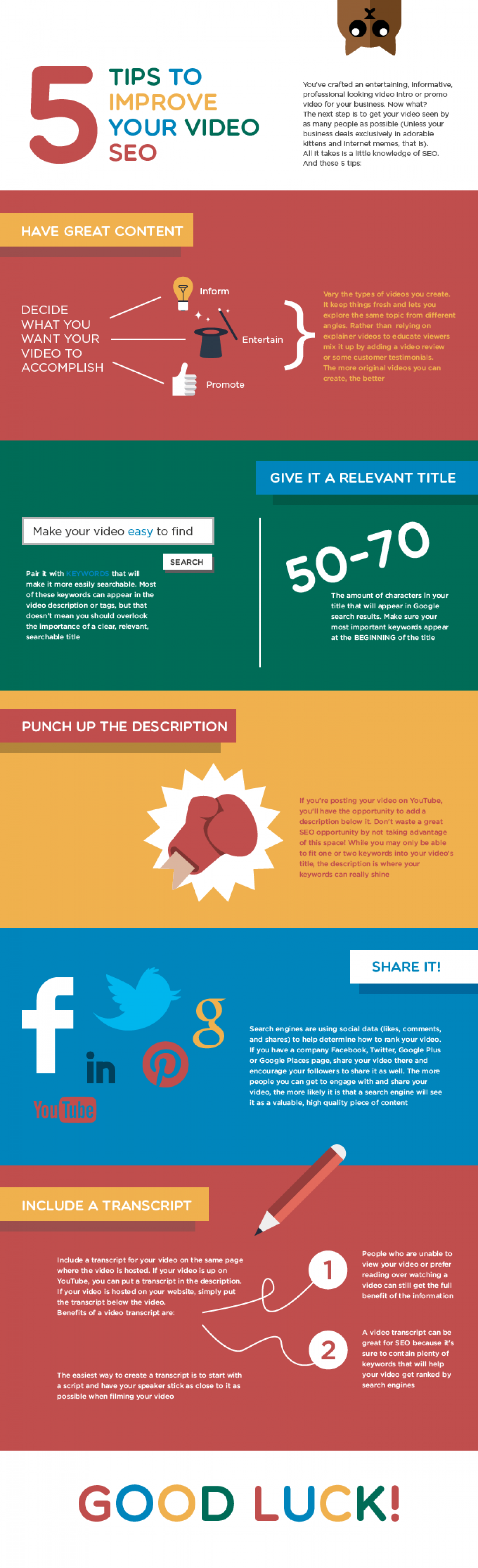 How to Improve Your Video SEO  Infographic