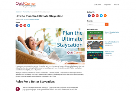 How to Plan the Ultimate Staycation Infographic