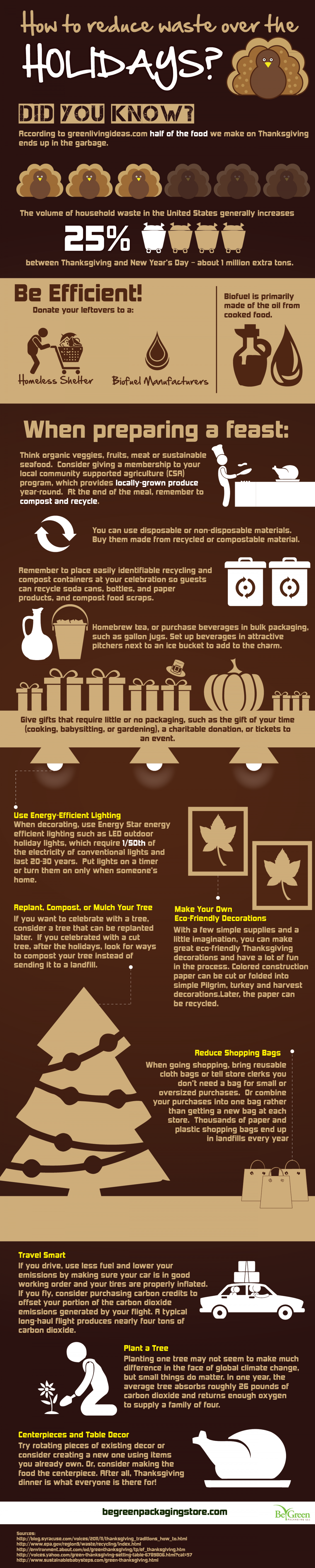 How to Reduce Waste Over the Holidays?  Infographic