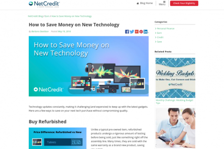 How to Save Money on New Technology Infographic