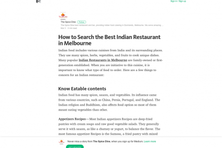 How to Search the Best Indian Restaurant in Melbourne Infographic