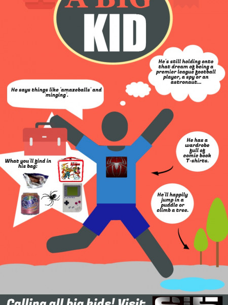 How to Spot a Big Kid Infographic