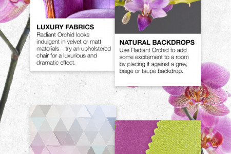 How to Use Radiant Orchid in Your Home Infographic