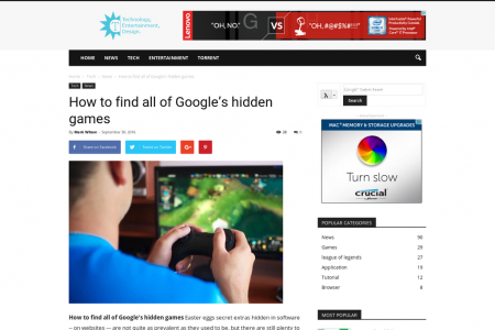 How to find all of Google's hidden games Infographic