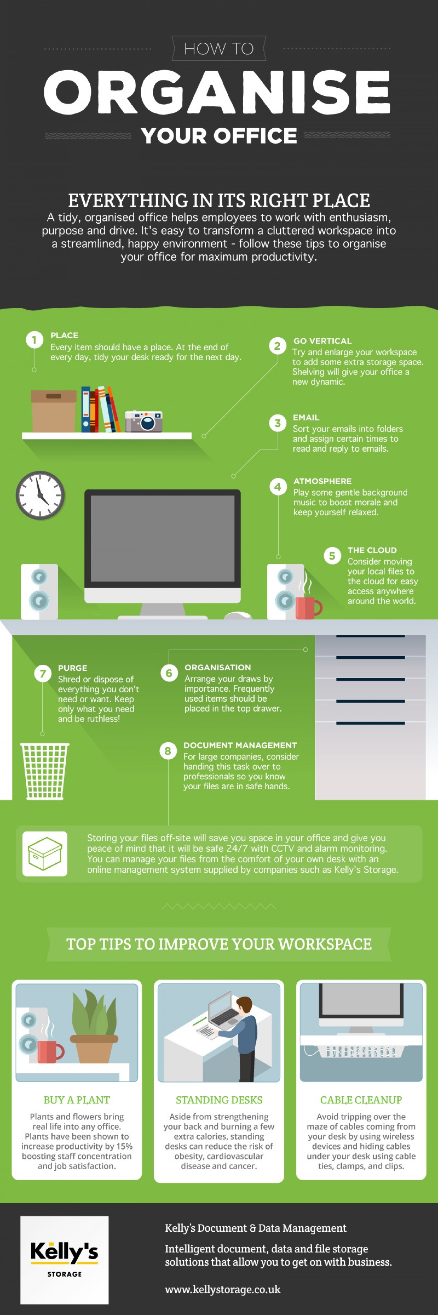 How to organise your office Infographic