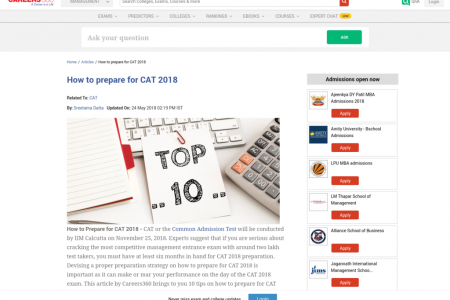 How to prepare for CAT 2018 Infographic