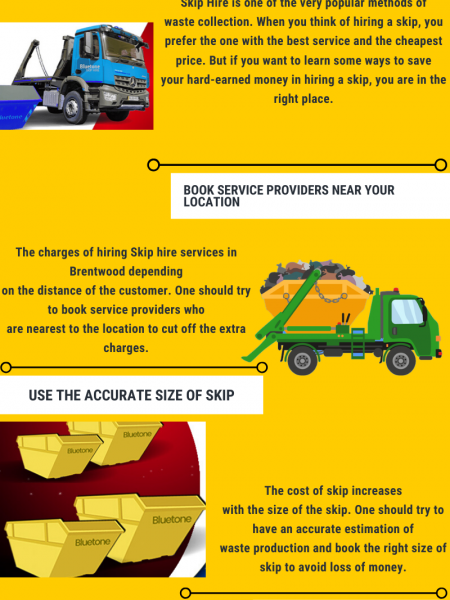 How to save money in hiring skip hire? Infographic