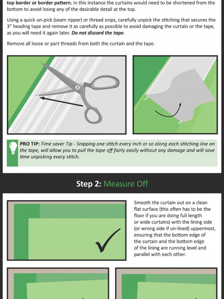 How to shorten Ready Made Curtains Infographic Infographic