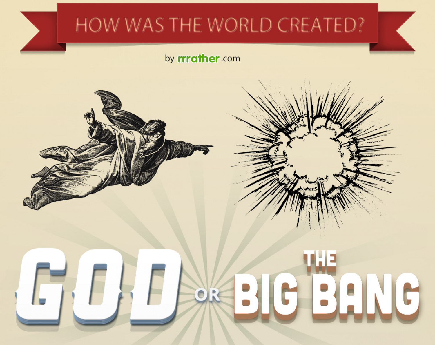 How was the world created? Infographic