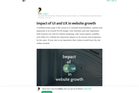 Impact of UI and UX in website growth Infographic