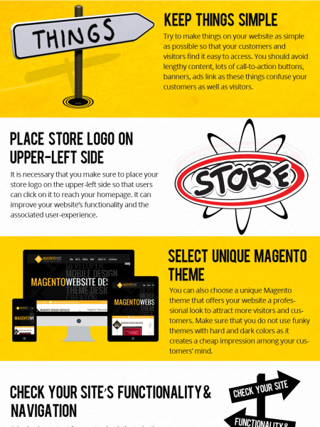 Improve Conversion Rate of Your Magento Website With These Simple Tips Infographic
