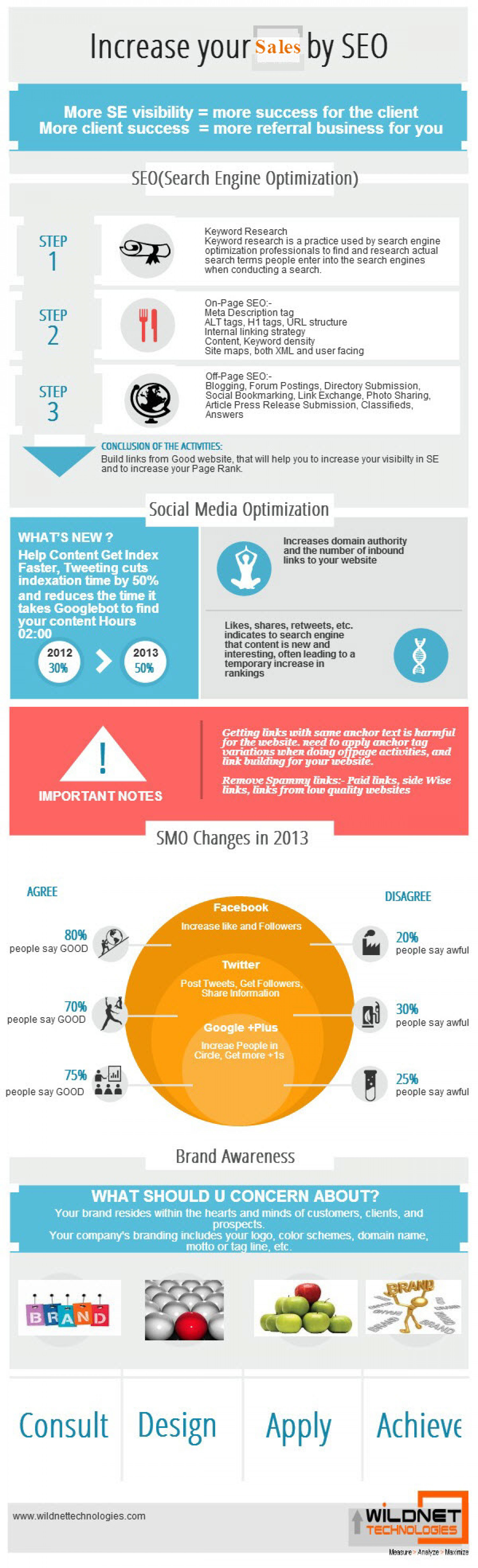 Increase your Sales by SEO and SMO Infographic