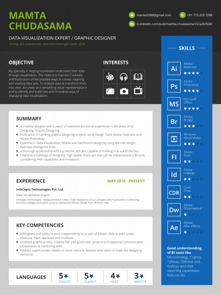 Infographics Resume Infographic