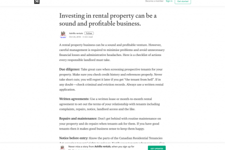 Investing in rental property can be a sound and profitable business. Infographic