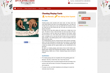 Invisible Spy Cheating Playing Cards in Delhi Infographic