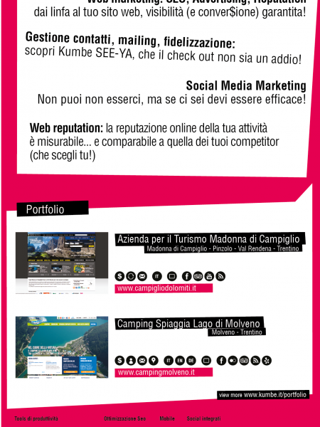 KUMBE web&social media agency presentation Infographic
