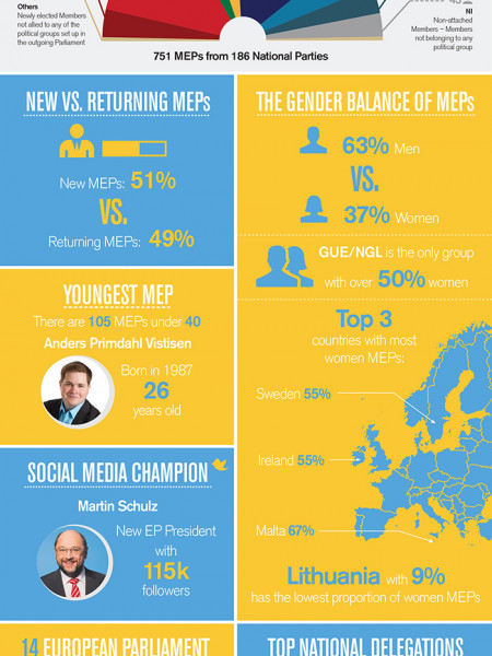 Key Facts About the 2014 European Parliament Infographic