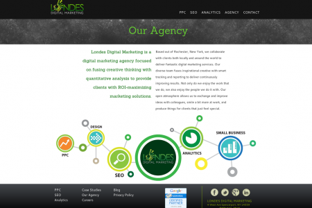 LDM Digital Agency Page Infographic