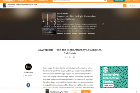 Lawyerzone -Find the Right Attorney Los Angeles, California Infographic