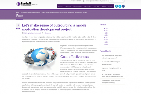 Let's make sense of outsourcing a mobile application development project Infographic