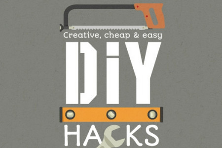 Creative, Cheap & Easy DIY Hacks Infographic