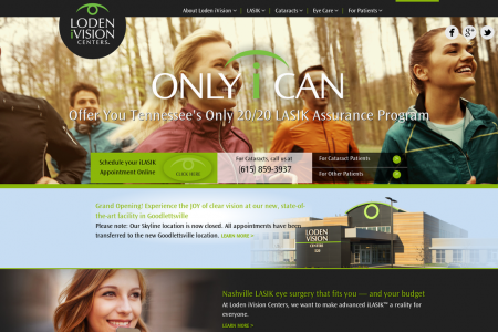 Loden Vision Centers Website Infographic