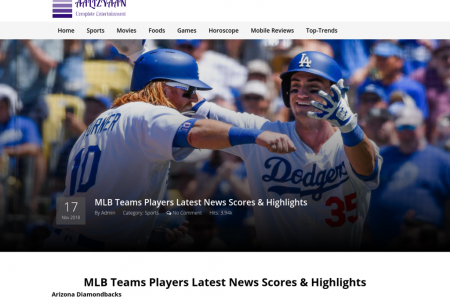 MLB Teams Players Latest News Scores & Highlights Infographic