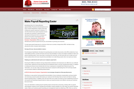 Make Payroll Reporting Easier Infographic
