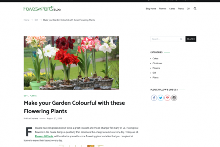 Make your Garden Colourful with these Flowering Plants Infographic